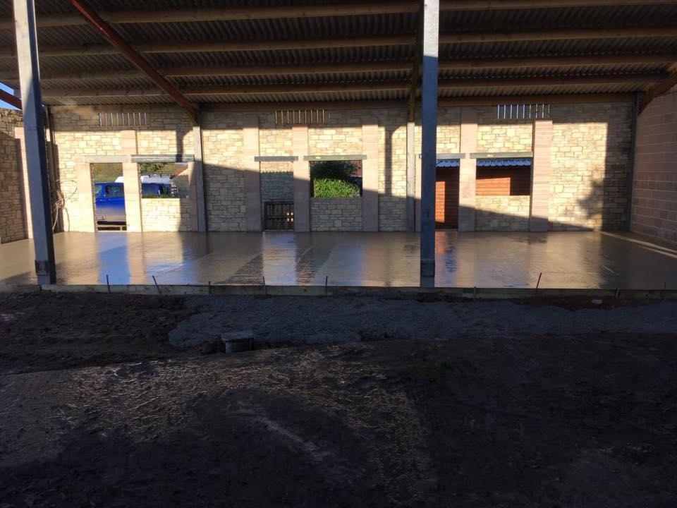 concrete shop floor